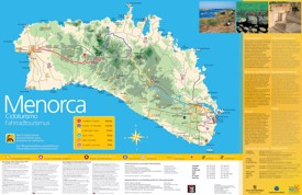 Minorca sightseeing map