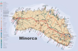 Minorca tourist map