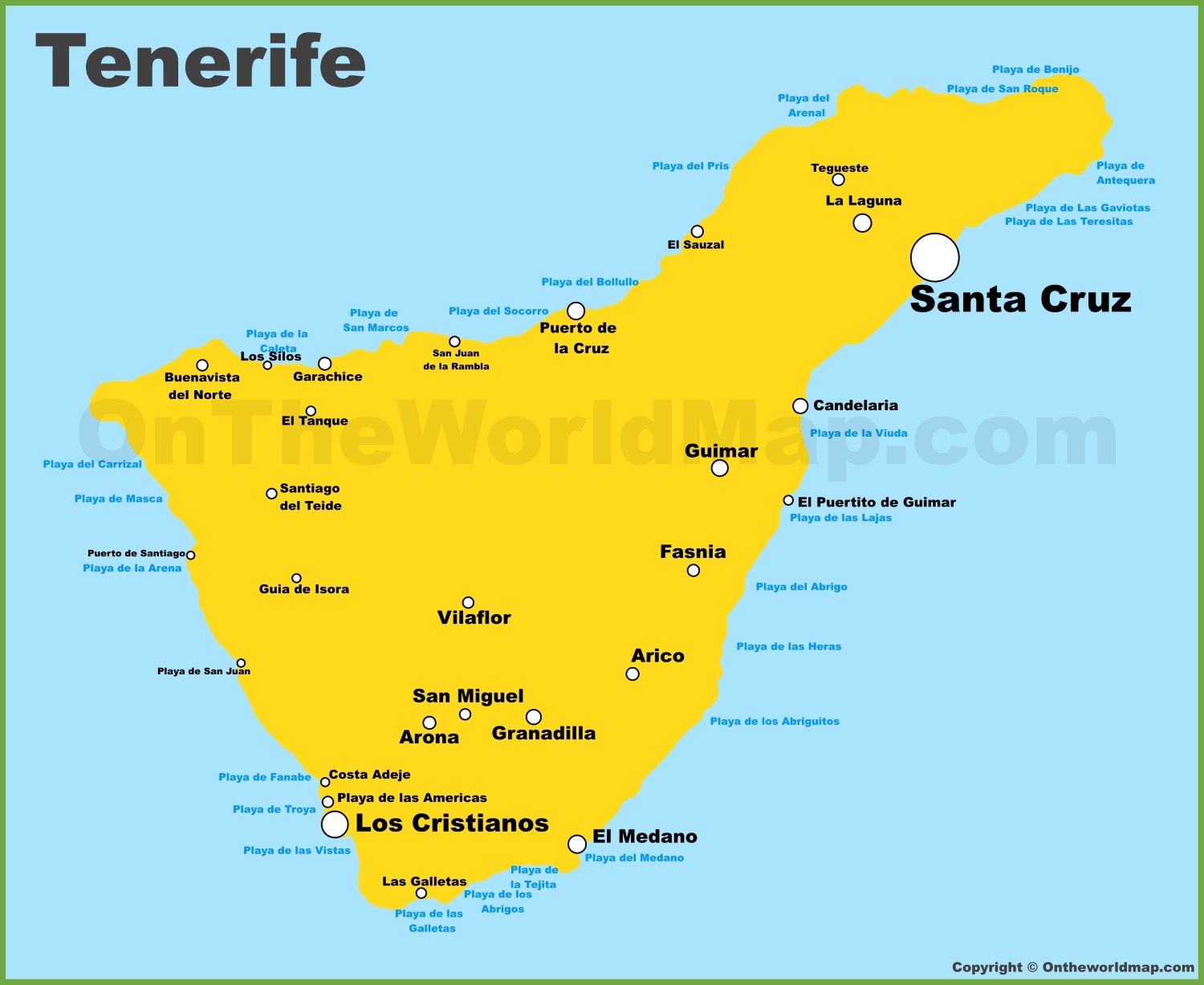 Map Of Tenerife Tenerife Maps | Canary Islands, Spain | Map of Tenerife Map Of Tenerife
