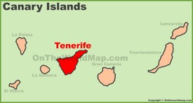 Tenerife location on the Canaries map