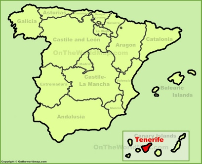 Tenerife Location Map