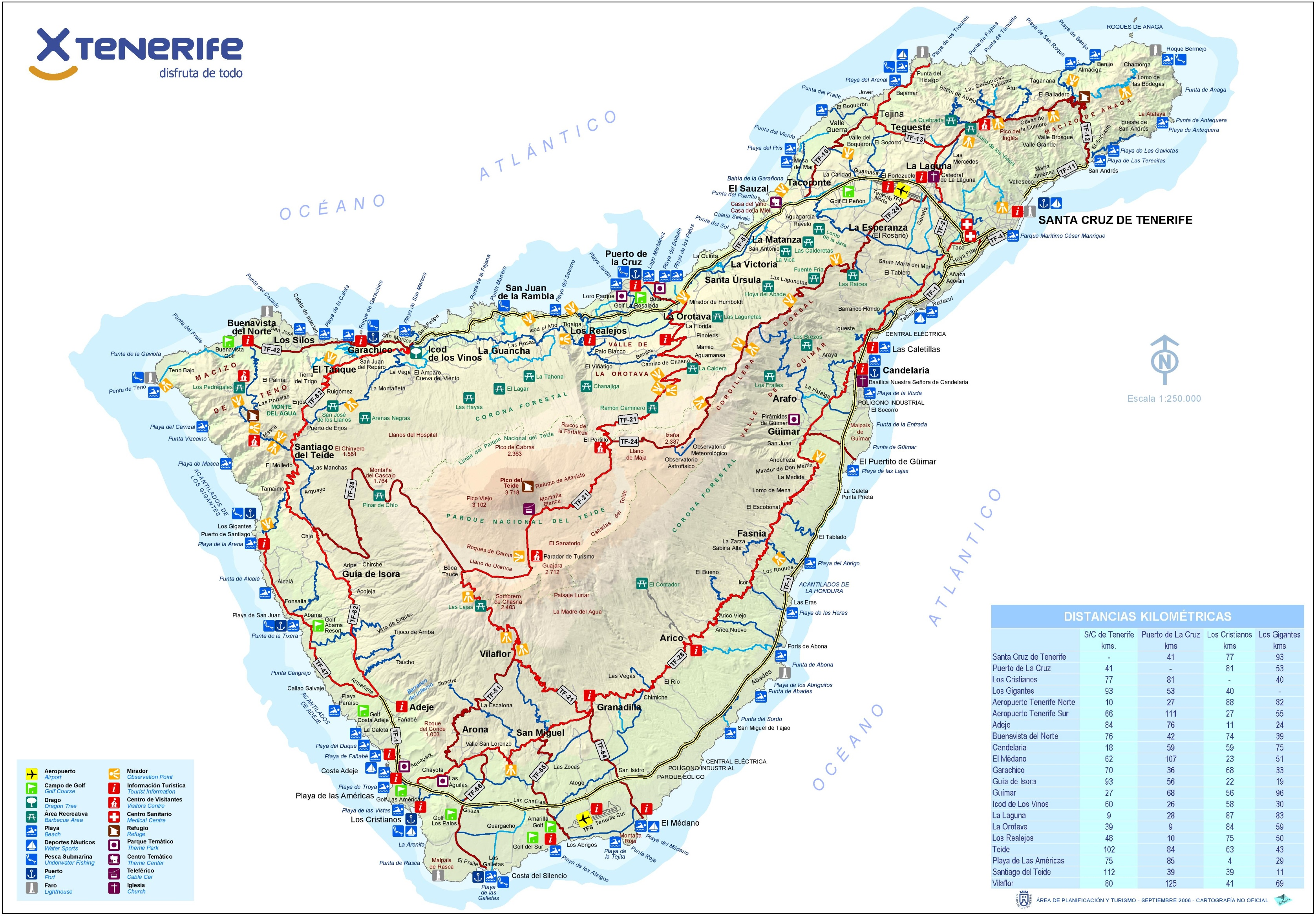 Tenerife tourist map