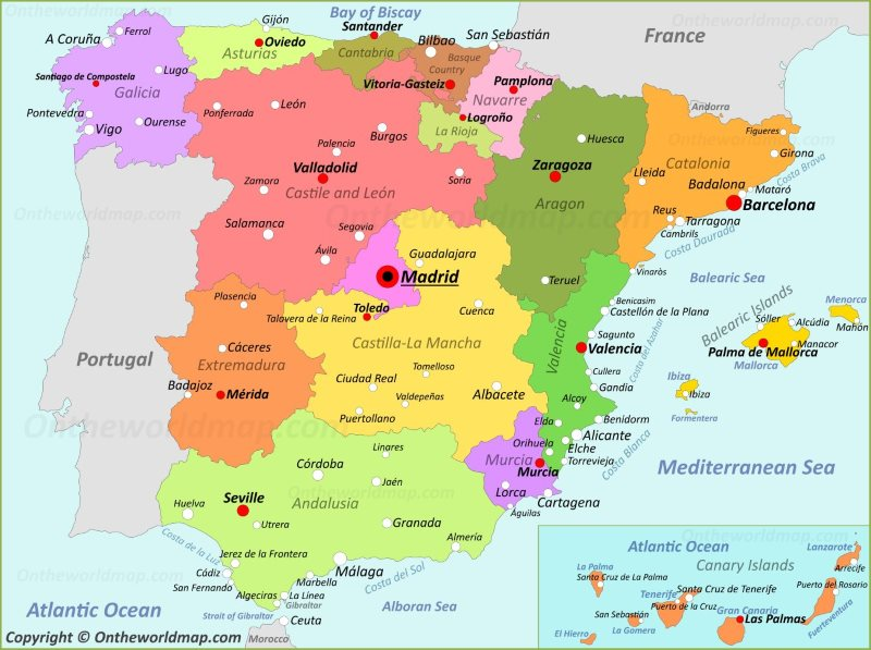 Show Me The Map Of Spain.Spain Maps Maps Of Spain