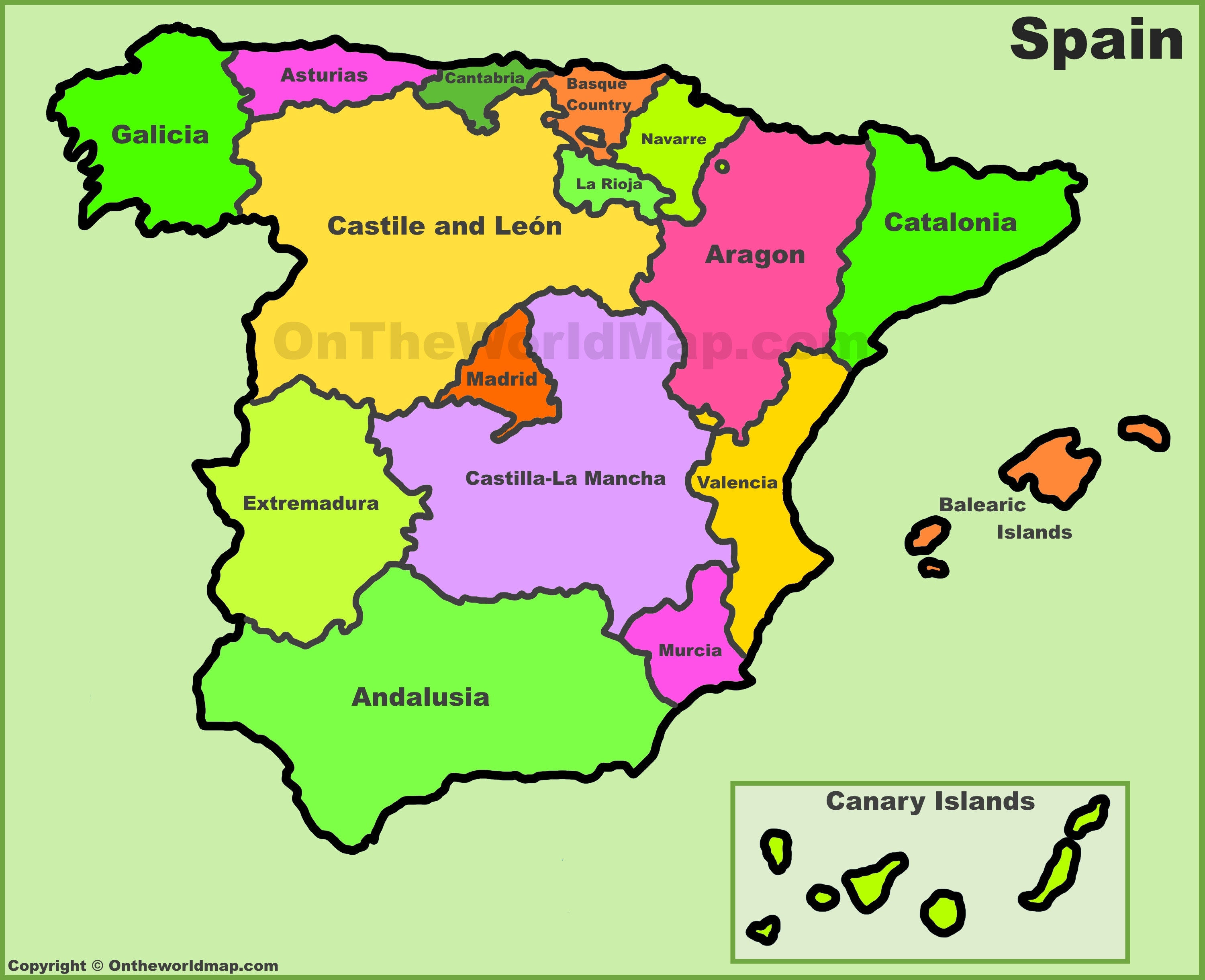Printable Map Of Spain.Spain Maps Maps Of Spain