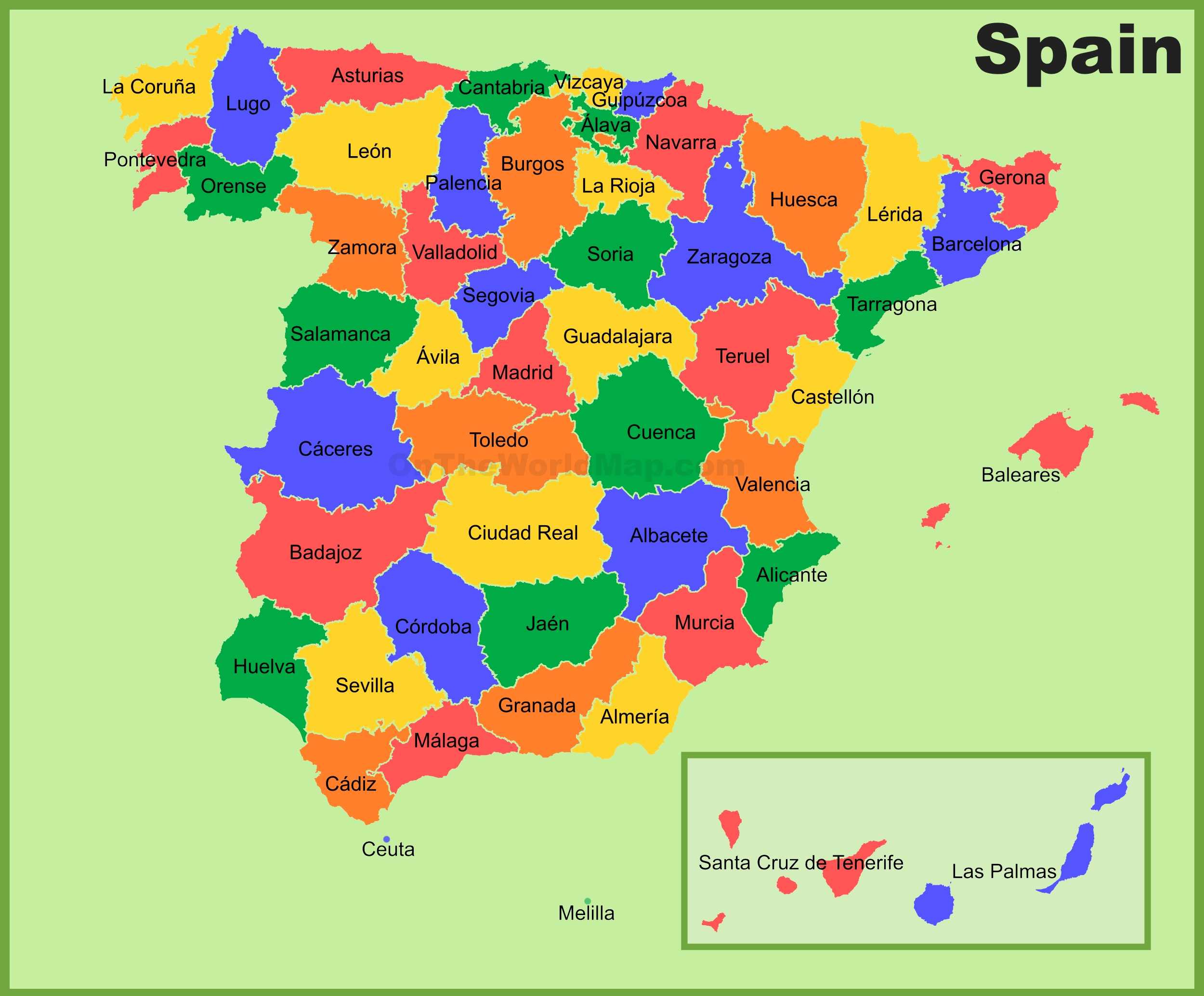 Road Map Of Spain.Spain Maps Maps Of Spain