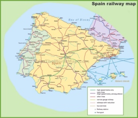 Spain railway map