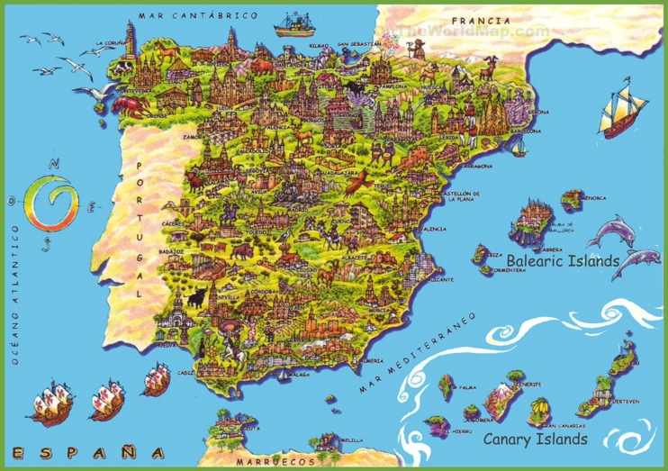 Mapa turistico de España