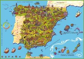 Spain tourist map