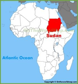 Sudan location on the Africa map