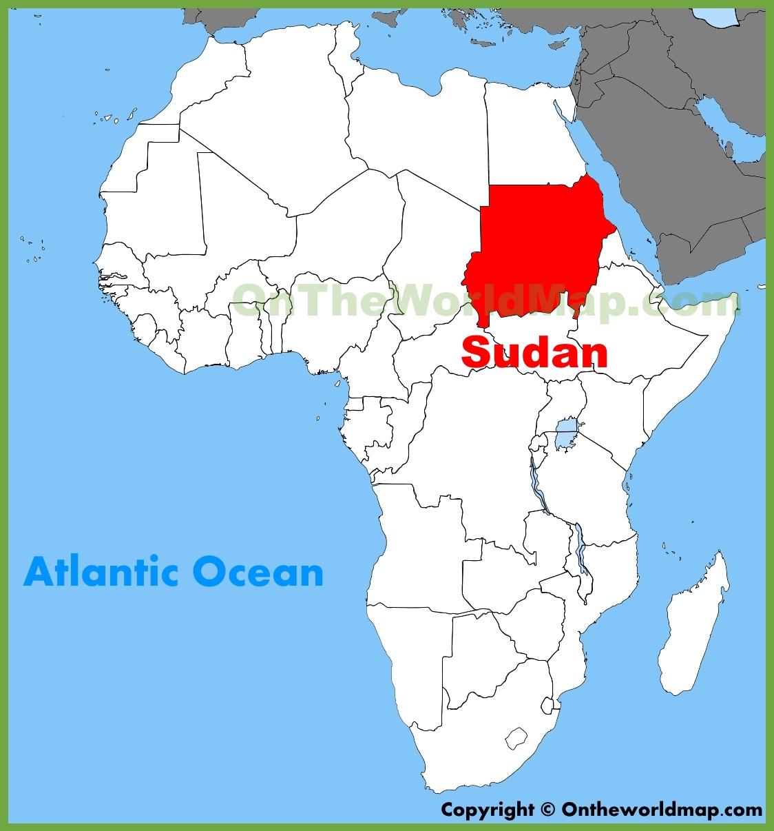 Sudan Africa Map Sudan location on the Africa map