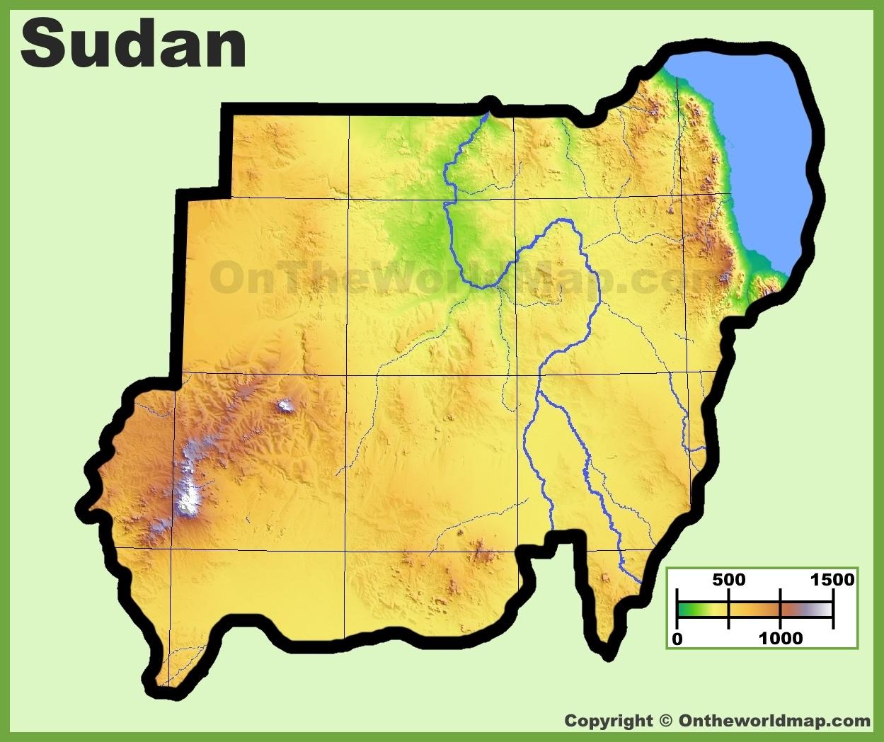 Sudan Maps Maps Of Sudan - Map of sudan