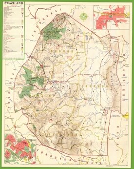 Large detailed map of Swaziland