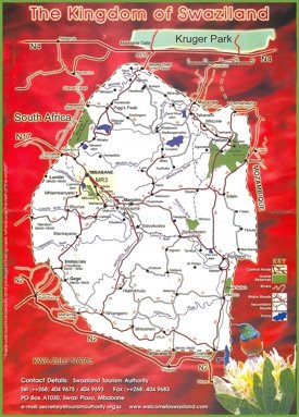 Swaziland travel map
