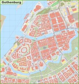 Gothenburg city center map