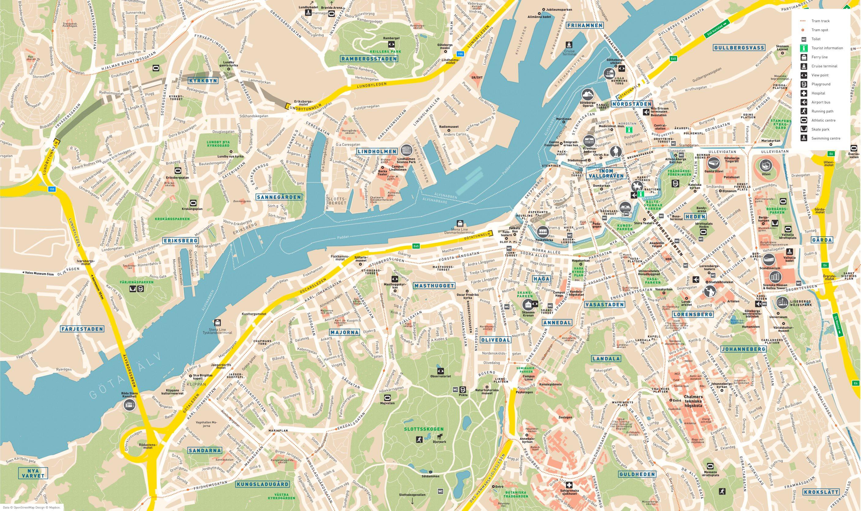 Gothenburg sightseeing map