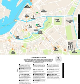 Gothenburg walk map