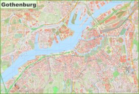 Large detailed map of Gothenburg