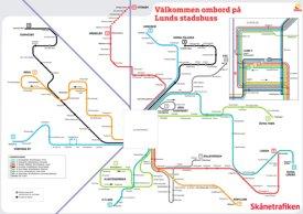 Lund bus map