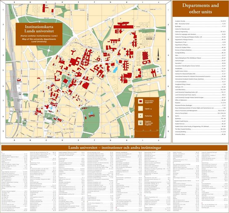 Lund campus map