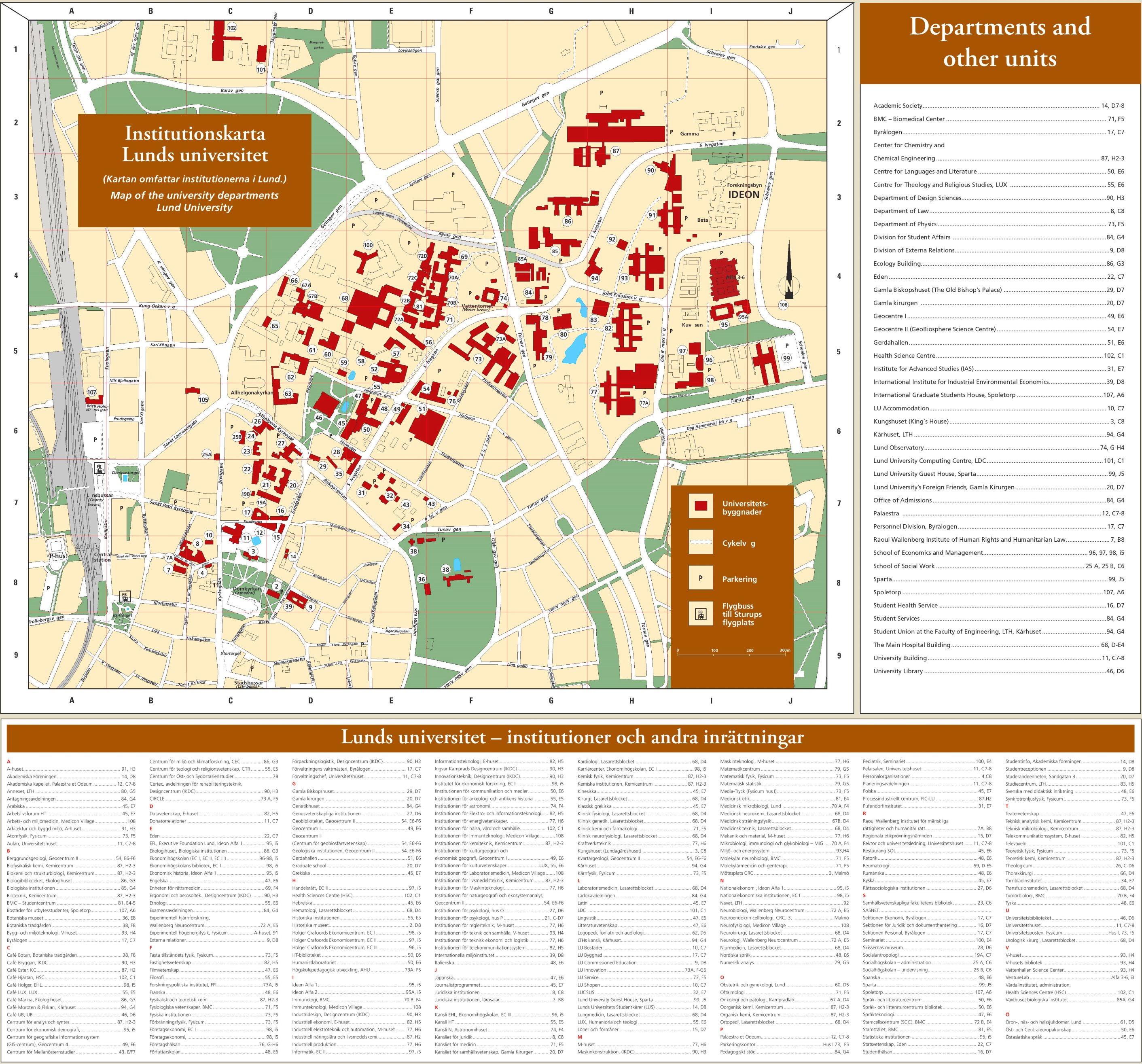 picture regarding University of Arizona Campus Map Printable called Lund campus map