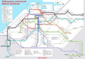 Malmö bus map