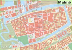 Malmö city center map