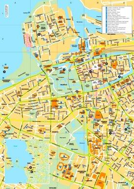 Malmö sightseeing map