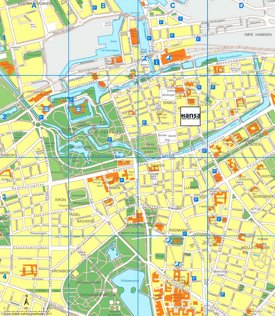 Malmö tourist map