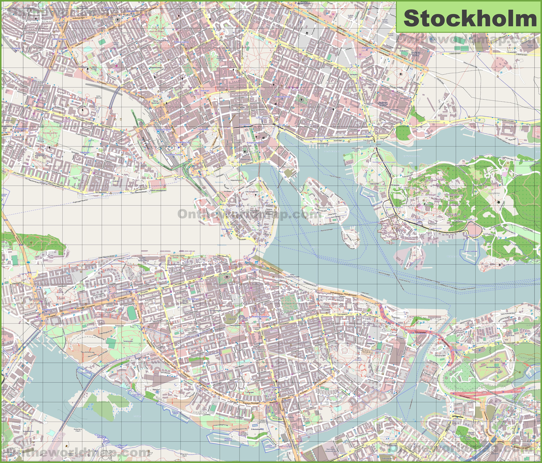Stockholm Maps Sweden Maps of Stockholm