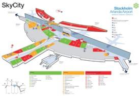 Stockholm Airport SkyCity map
