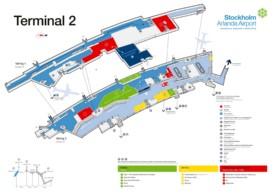 Stockholm airport terminal 2 map
