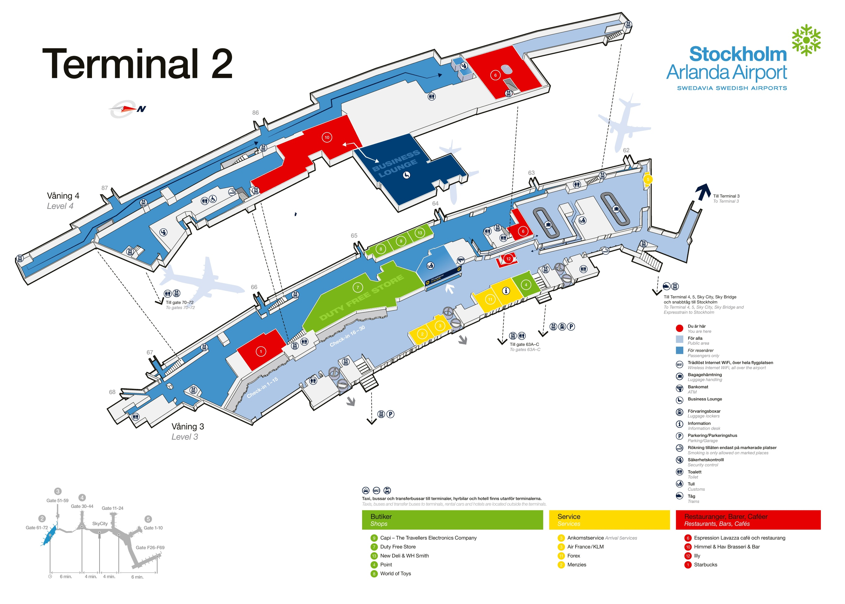 Stockholm Airport Terminal Map - Sweden map airports