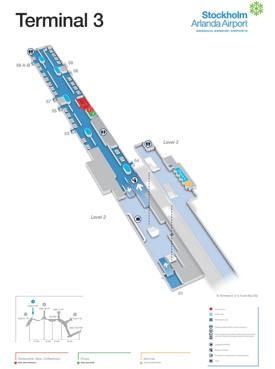 Stockholm airport terminal 3 map