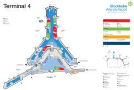 Stockholm airport terminal 4 map