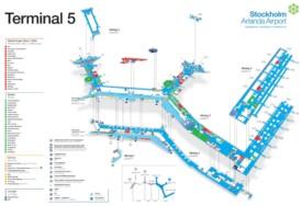 Stockholm airport terminal 5 map