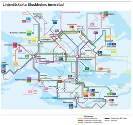 Stockholm area transport map