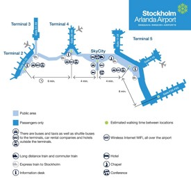 Stockholm Arlanda Airport map