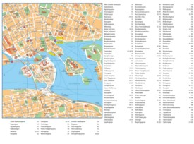 Stockholm city center map