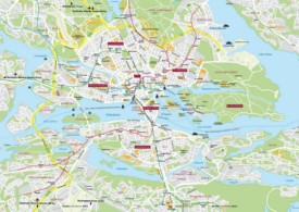 Stockholm transport map