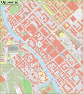 Uppsala city center map