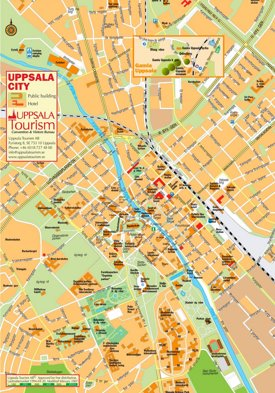Uppsala tourist map
