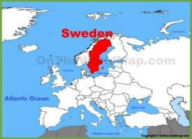 Sweden location on the Europe map