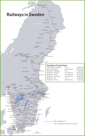 Sweden railway map