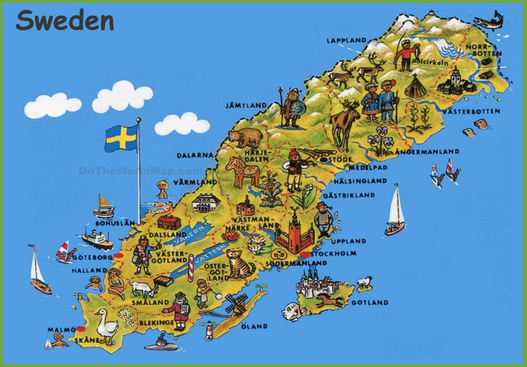 Sweden tourist map