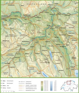 Canton of Aargau Maps Switzerland Maps of Canton of Aargau