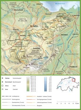 Canton of Appenzell Ausserrhoden road map