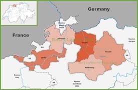 Canton of Basel-Landschaft district map