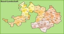 Canton of Basel-Landschaft municipality map