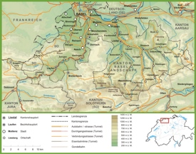 Canton of Basel-Landschaft road map