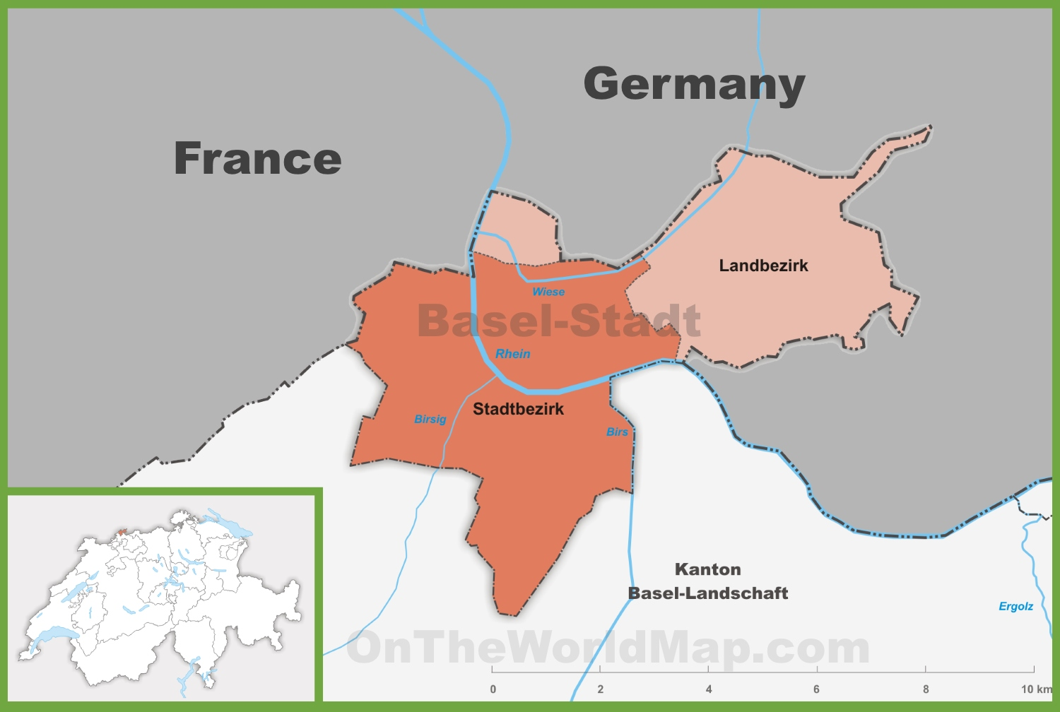 Canton of BaselStadt district map